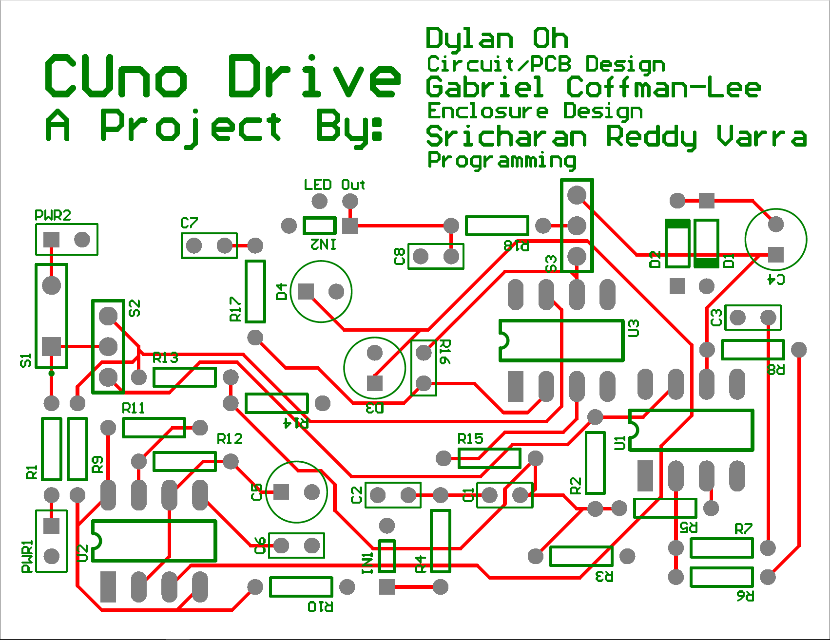 Cuno Drive Effects Pedal Dylan Ohs Technical Portfolio Led Circuit Designer The Pcb Was Created Using Altium And Produced By Advanced Circuits In Aurora Co